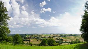 Sicht auf Roztocze aus Bukowa Góra